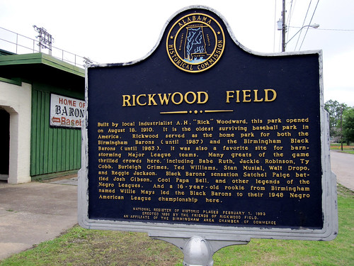 RIckwood Field Historic Marker