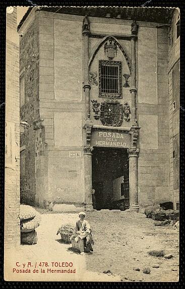 Posada de la Hermandad (Toledo) hacia 1915. Foto Castiñeira y Álvarez
