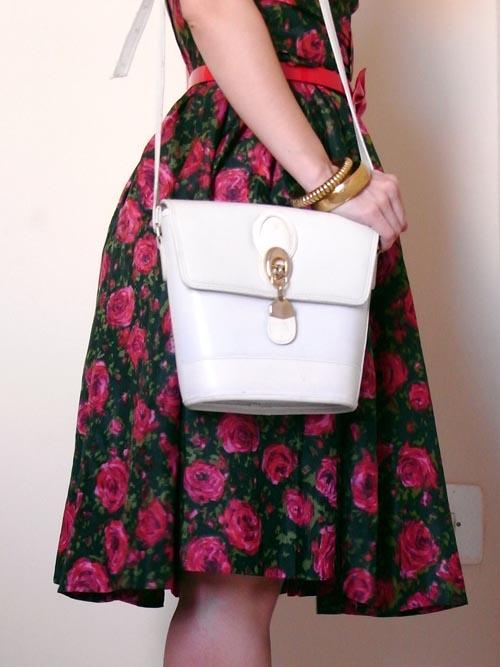White vintage bag