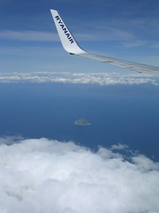Wing And A Prayer (W F B) Tags: ocean uk blue sea cloud scotland clyde nikon aircraft wing aeroplane craig ailsa ryanair plain windowseat
