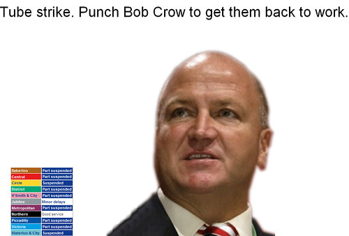 Punch Bob Crow screengrab - click to play