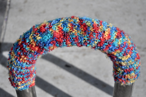 Yarn Bombing in San Jose's SoFA District