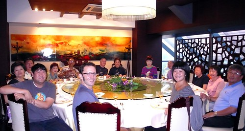 the group at dinner, suzhou