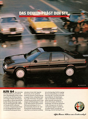 Alfa Romeo 164 3.0 V6 (1990) (jens.lilienthal) Tags: auto old cars car 30 print advertising media reclame ad voiture advertisement advert older alfa romeo 164 autos werbung 1990 reklame voitures v6 anzeige