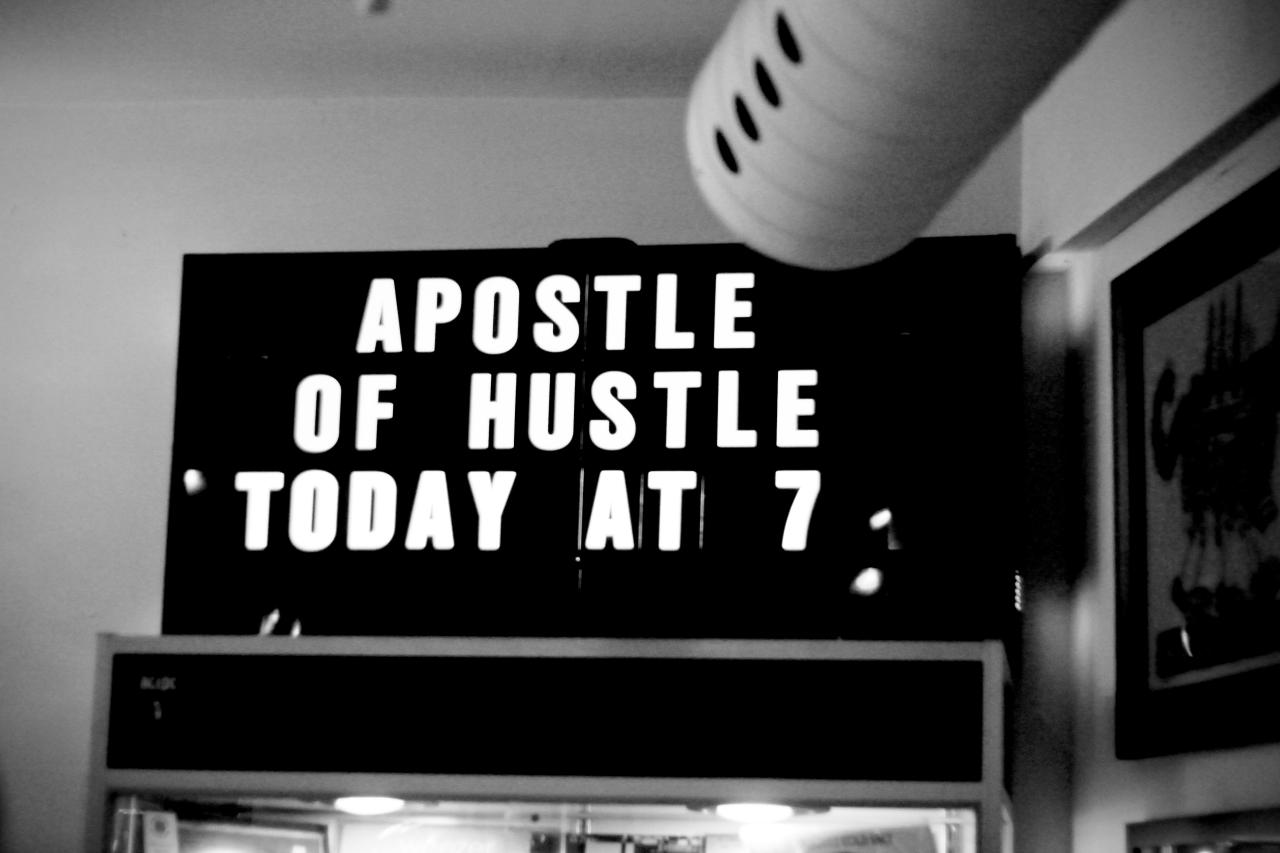 Apostle of Hustle—June 16 @ Criminal Records