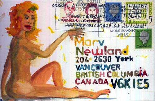 A Marv Newland postcard
