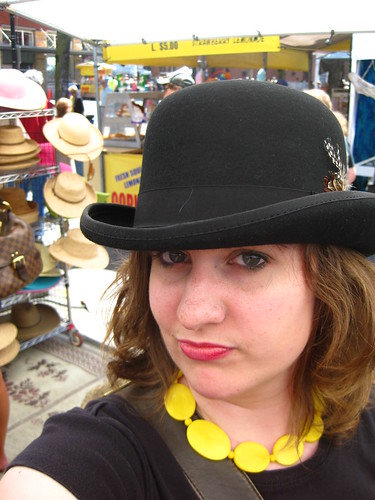 friends selfportrait silly me oregon portland women downtown market sunday selfportraits hats saturday portlandoregon sundaymarket bowler saturdaymarket onewoman