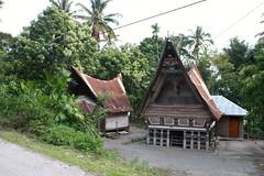 Batak traditional house (tajchom) Tags: lake sumatra indonesia island batak toba danau samosir