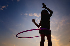 Hooping (niko si ) Tags: sunset game tramonto child play sillouette hulahoop palestrina sfidephotoamatori