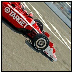 Scott Dixon heads for pit lane, Toronto 2009