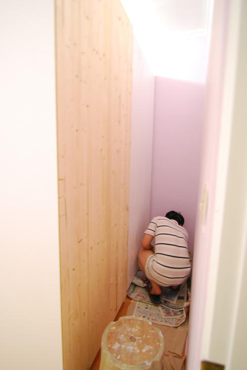 pax11櫃框背上漆
