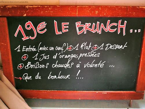 Brunch Menu - 19€.