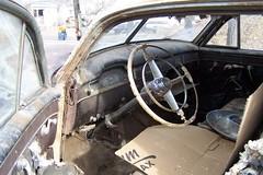 1949 Cadillac Interior (coconv) Tags: auto old cars hardtop car wheel yard vintage dead junk automobile steering antique interior cadillac dash 49 junkyard dashboard collectible recycle salvage wrecked 1949 blart borard