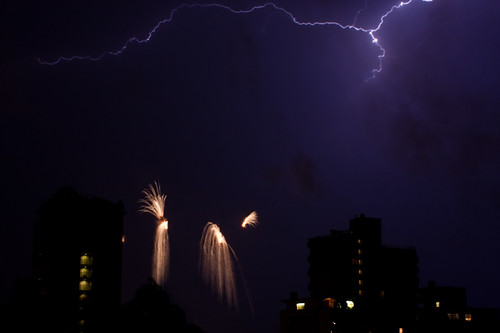 Lightning and Fireworks by TylerIngram.