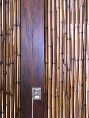 Bamboo Door Detail