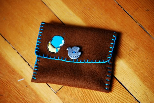 button on pouch