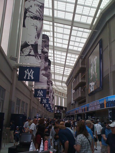 Yankee Stadium is very shiny and new. It certainly looks like a lot of money was spent.