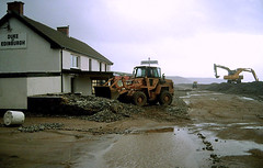 Newgale, Storm and Flooding, December 1989 (imaginedhorizons) Tags: storm flooding pembrokeshire stormdamage newgale coastaldefences flooddamage coastalerosion december1989 coastaldamage coastalbreech coastalflood