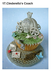 Decorated cupcake Cinderella's Coach
