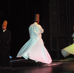 Dervishes start whirling after bowing to their Sheikh, Omaha (ali eminov) Tags: colors dance dancing performance sema sheikh dervishes rumi dances whirlingdervishes mevlana whirlingdances