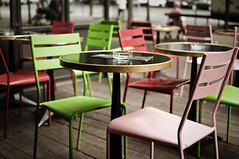 Delaville Caf (Fabrice Drevon) Tags: paris 35mm table cafe chair nikon colorful pastel nikkor fr d90 delaville fabricedrevon