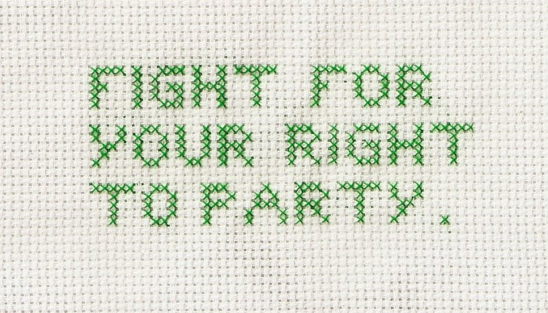 Beastie Boys cross stitch