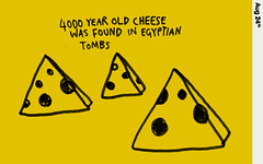 aug24 4000 year old cheese was found in Egyptian tombs (we_are_young) Tags: colour strange yellow illustration project design egypt egyptian everyday something learn tombs fact 4000 markerpen learnsomethingeveryday cheeselearnsomethingeverydayeverydayfactcolourillustrationmarkerpenstrangedesignproject