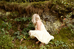(mioke) Tags: nature girl forest moss flora sitting stones