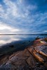 Blues & rock (-Camilla) Tags: sky cliff cloud seascape reflection nature rock evening sweden xx balticsea shore bluehour etsy blekinge sigma1020mm leadinglines gö expo1 cotcpersonalfavorite nikond80