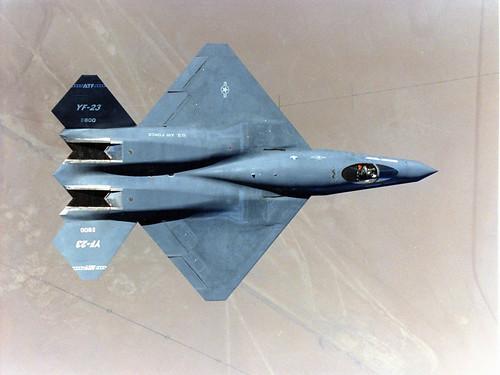 フリー画像| 航空機/飛行機| 軍用機| 戦闘機| YF-23 ブラック・ウィドウII| YF-23A Black Widow II|      フリー素材|