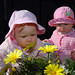 Children and flowers