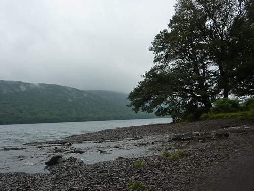 On a small beach on Coniston Water