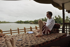 Relaxing in the backwaters of Kerala (Andrew RTW) Tags: india houseboat kerala alleppey