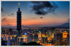 101(Taipei 101 building sunset) (nans0410) Tags: sunset building 101 taipei   hdr  d90 mygearandmepremium mygearandmebronze mygearandmesilver mygearandmegold mygearandmeplatinum mygearandmediamond