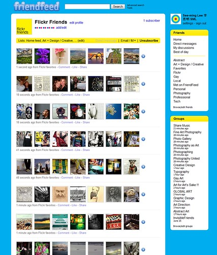 SML Friendfeed Flickr Friends Feed / 2009-09-10 / SML Screenshots (by See-ming Lee 李思明 SML)