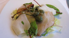 Suzy's smoked halibut and smoked swordfish starter at The Pierhouse