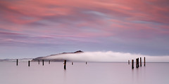 Angel Island Sky #2 - Sausalito, California (PatrickSmithPhotography) Tags: sanfrancisco california longexposure travel sunset red vacation usa seascape nature water fog canon landscape marin explore bayarea 5d sanfranciscobay pilings angelisland sausalito frontpage mkii