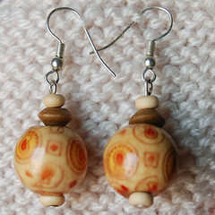 Wood autumn earrings