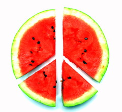 Peace Melon (bitzcelt) Tags: love community peace retro watermelon 1960s psychedelic peacesign onwhite understanding worldpeace forgiveness peacesymbol coexist givepeaceachance sb800speedlight bitzcelt