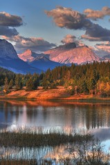 Bow Valley Morning (A guy with A camera) Tags: park canada mountains nature water forest river rockies pond nikon bravo scenery country alberta valley bow rockymountains capture hdr vr finest provincial 70200mm the kananaskiscountry bowvalleyprovincialpark d300s capturethefinest