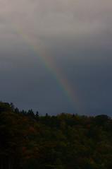 微かに見えた虹