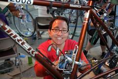 Detailing bikes at Cycle Oregon
