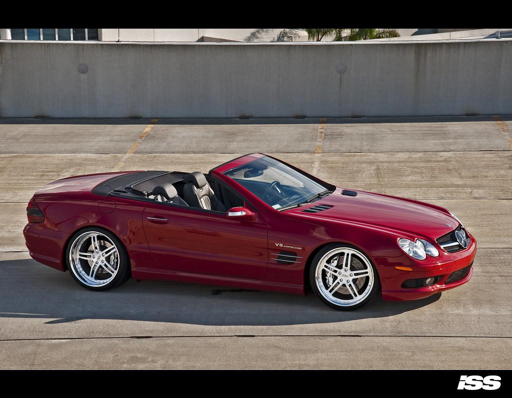 Mercedes Benz 2007 mercedes benz sl55 amg : Mars Red SL55 AMG on ISS Forged Complex 5 - ClubLexus - Lexus ...