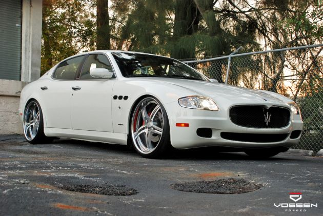 Maserati quattroporte with vossen wheels