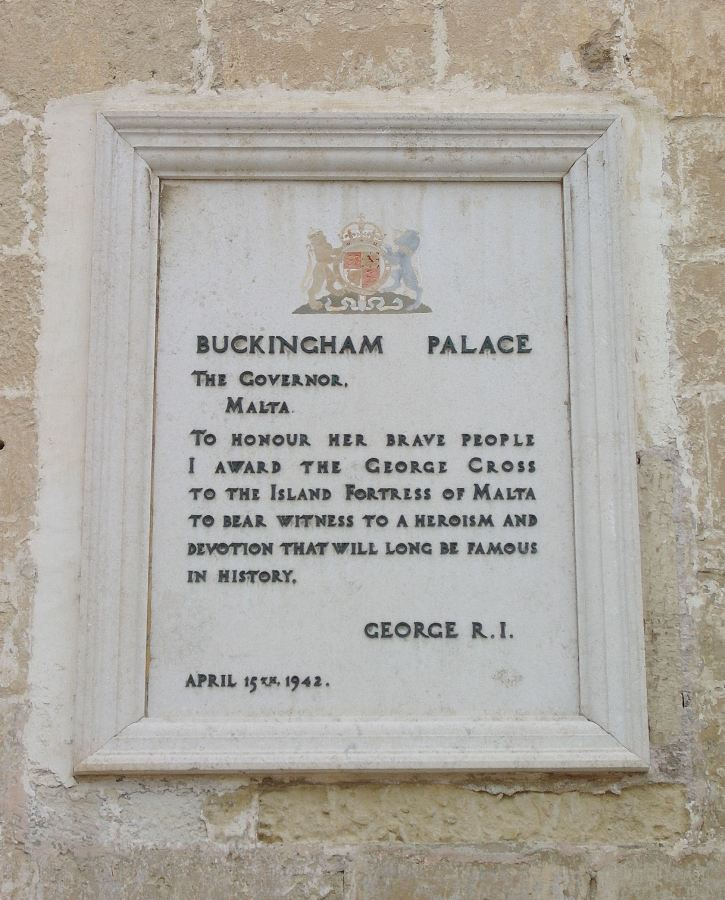George Cross plaque cropped