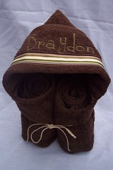 Braydon  Chocolate Hooded Towel (spiritofgiving) Tags: towels custom personalized hooded