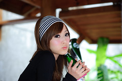 (Funstyle) Tags: portrait woman cute girl beauty model nikon asia taiwan 85mm sigma taipei  fx  2009 peopel     2470 mikako  difocus d700