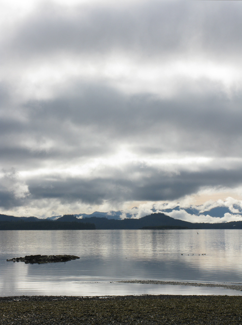layers of light and clouds over Kasaan Bay, Alaska