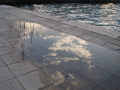 sailing away (efou222) Tags: sea reflection water clouds reflections sailing greece sail thessaloniki