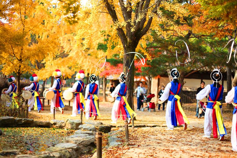 south Korea colors fall